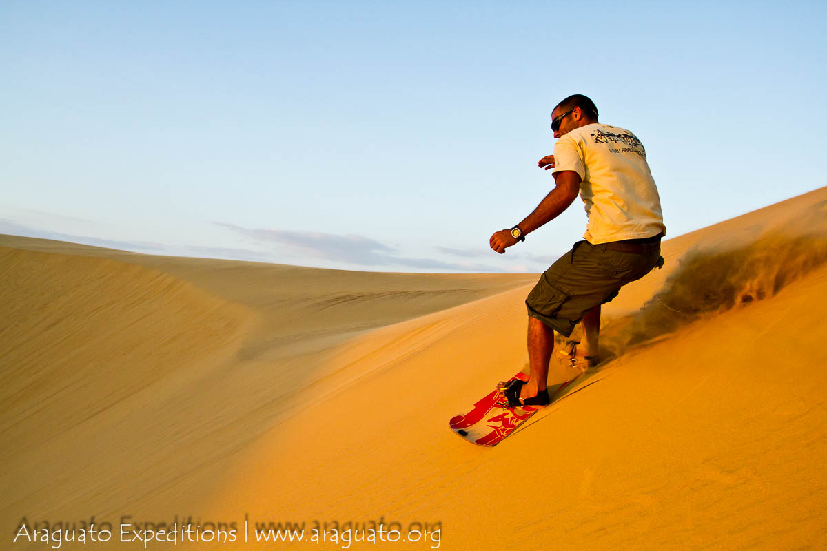 SANDBOARDING | Araguato Expeditions: Adventure and Eco